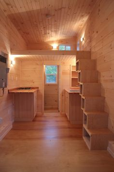 Sherwood Tiny House - storage stairs
