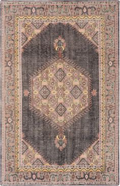 Mirabelle Rug, Charcoal and Beige