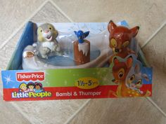 Fisher Price Little People Disney Movie Bambi & Thumper Ice Pond skating NEW box