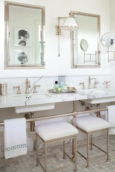Ann Hepfer bathroom Marble countertops