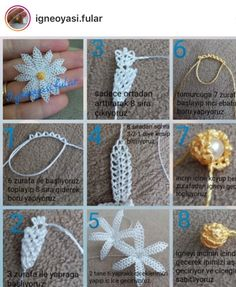 This Pin was discovered by hül Crochet Flower Tutorial, Crochet Flower Patterns, Tatting Patterns, Crochet Motif, Crochet Flowers, Love Decorations, Brazilian Embroidery, Crochet Tablecloth, Needle Lace