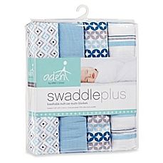 image of aden® by aden + anais® 4-Pack Muslin swaddleplus® Blankets in Blue