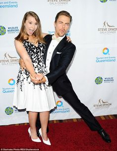 Twirling around: Bindi struck a dancing pose with Derek following their DWTS win earlier t...