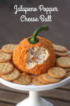 Crazy for Cookies and more: Jalapeno Popper Pumpkin Cheese ball halloween cheeseballs Halloween Snacks, Comida De Halloween Ideas, Soirée Halloween, Hallowen Food, Halloween Potluck Ideas, Halloween Finger Foods, Hallowen Party, Creepy Halloween Food, Halloween Dishes