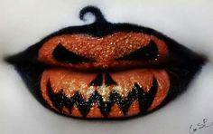 Halloween Lips by Eva Senin Pernas | Inked Magazine