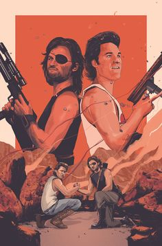 """kogaionon: """" Big Trouble in Little China/Escape From New York #1 cover by Oliver Barrett for the six-part crossover comic coming this October from BOOM! Studios. More info here. """""""