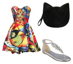 """summer"" by bsenid ❤ liked on Polyvore featuring Versace, Nine West and Forever 21"