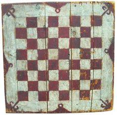 American Folk Art Game Board late 19th century