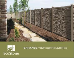 Stone Look™ Privacy Fence by SimTek™