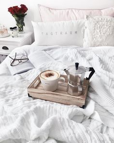 Simple but homely ♥   new blanket & mini-coffee tray ☕️ And the best: Drinking the coffee with an…»