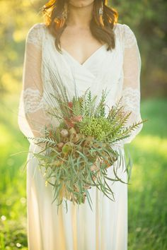 This Wildflower Wedding #Bouquet is absolutely gorgeous and perfect for a #rusticwedding!  From http://rusticweddingchic.com/vintage-wedding-inspiration  Bouquet by http://weplusyoustudios.com/  Photo Credit: http://jonathanivyphoto.com/