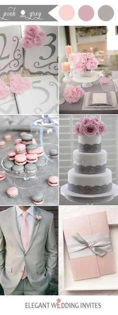 pink and grey wedding color inspiration Find your inspo at www.pinterest.com/laurenweds/wedding-decor?utm_content=buffera9af3&utm_medium=social&utm_source=pinterest.com&utm_campaign=buffer
