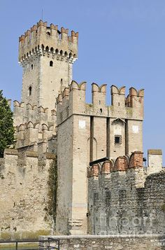 Scaliger Castle Castello Scaligero Sirmione Italy Print By Matthias Hauser