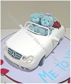Me To You Bears Wedding Cake Sydney, Wedding Car Cake, Mercedes Convertible Wedding Car, Limousine Wedding Car
