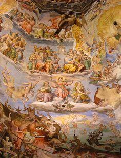 Giorgio Vasari (1511-1574) - Il Giudizio Universale - affresco - Cupola di Santa Maria del Fiore, Firenze