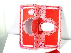 VALENTINE Card Handmade For Friends Unique One Of A Kind CArds no 2 will be alike. This one is a Flip card as the center piece flips back and forth. by Chris of PaperMagicFantastic