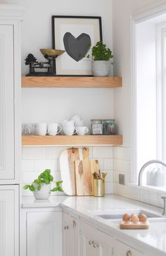 Claire's Bright White Kitchen And Scandi Dining - Image By Http://thegreeneyedgirl.co.uk/