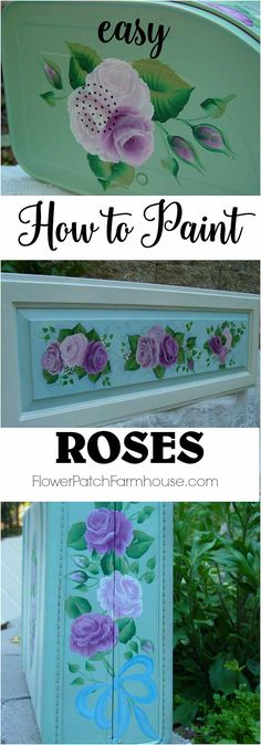 Learn how to paint roses, a fun tutorial that beginners can do. Stroke by stroke instructions with video link included. Want to paint gorgeous roses and make crafts, DIY decor and more? Come learn to paint beautiful roses in a wink.
