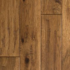 Blue Ridge Hardwood Flooring Hickory Vintage Barrel Hand Sculpted in. T x 4 in. W x Random Length Solid Hardwood Flooring sq ft / case) - Trä Design Hickory Wood Floors, Solid Wood Flooring, Best Flooring, Engineered Hardwood Flooring, Flooring Types, Flooring Ideas, Rustic Hardwood Floors, Flooring Options, Hardwood Floor Refinishing