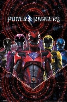 Power Rangers Poster, Power Rangers 2017, Poster Wall, Poster Prints, Power Rengers, Groups Poster, Tv Shows Online, Black Wood, Captain America