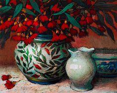 Judy Drew - Gum Blossom, 2002, pastel on paper