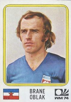 Brane Oblak - Yugoslavia - München 74 World Cup sticker 190 Football Stickers, Football Cards, Baseball Cards, Panini Sticker, 1974 World Cup, Laws Of The Game, Association Football, Most Popular Sports, International Football