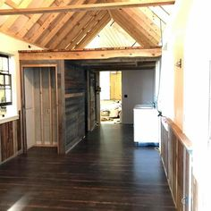 380 sq. Ft Nearly complete tiny home for sale on the Tiny House Marketplace. This 12x32 ft little home features 2 lofts and a porch. Restored 1800s barn wood