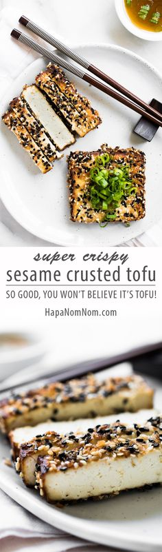Move over bland tofu! This crispy Sesame Crusted Tofu is packed with so much flavor, you'll never believe it's tofu!