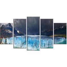 Designart - Perito Moreno Glacier - 5 Piece Photography Art Print
