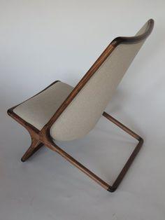 A Pair of Ward Bennett Scissor Chairs in Natural Linen 5