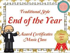 End of the Year Awards Traditional Style {Music Class} {Editable} Education For All, Music Education, Music Teachers, Teacher Boards, My Teacher, Teacher Stuff, Music Class, Music Mix, Guitar Classes