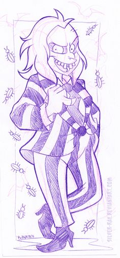 Beetlejuice sketch by Silver-Ray on DeviantArt