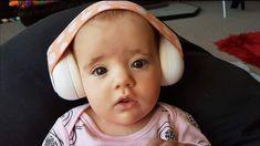 New Junior Peach dots hearing protection earmuffs. www.newjunior.com.au Hearing Protection, Earmuffs, Over Ear Headphones, Dots, Peach, Peaches, Ear Warmers, Stitches, Polka Dots