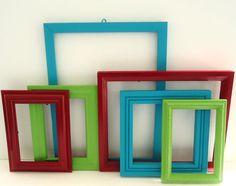 Shabby chic frames (ShabbyAvenueBoutique - etsy)