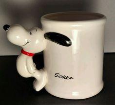 Vintage Snoopy Figural Handle Coffee Mug Hard to Find 60s Japan Made Mug Schulz