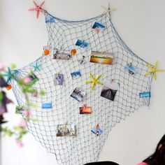Mediterranean Style Decorative Fish Net With Shells Home Wall Hanging Decoration White Home Decor, Easy Home Decor, Cheap Home Decor, Wc Decoration, Magazine Deco, Photo Deco, Boutique Deco, Shell Ornaments, Craft Online
