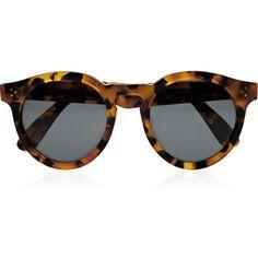 Illesteva Dasha for Illesteva Leonard round-frame acetate sunglasses ❤ liked on Polyvore