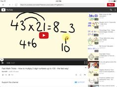 Math trick for multiplying any pair of two digit numbers