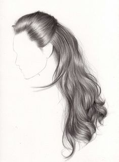 Fantasting Drawing Hairstyles For Characters Ideas. Amazing Drawing Hairstyles For Characters Ideas. Realistic Hair Drawing, Girl Hair Drawing, Girl Drawing Sketches, Art Drawings Sketches Simple, Pencil Art Drawings, Drawing Faces, Illustration Inspiration, Hair Illustration, Color Fantasia