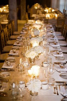 delicate, romantic table setting.