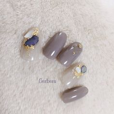 秋/冬/オフィス/パーティー/ハンド - nail_gerberaのネイルデザイン[No.3443771]|ネイルブック Gorgeous Nails, Love Nails, How To Do Nails, Pretty Nails, Japan Nail Art, Neutral Nail Art, Funky Fingers, Manicure Y Pedicure, Luxury Nails