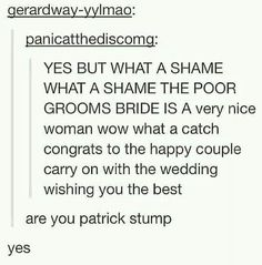 Patrick Stump on Tumblr