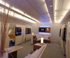 They say money can't buy happiness but it sure buys comfort....Qantas Airbus A380 First Class ! It's just amazing ! Jb