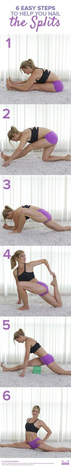The splits are an impressive show of flexibility and one of the best stretches you can do to alleviate tightness in your hips and legs. Practice these six stretches, and you'll soon be on your way. Get all exercises here: http://paleo.co/SplitsHowTo