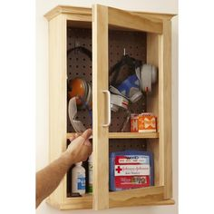 Safety-Gear Cabinet Woodworking Plan from WOOD Magazine