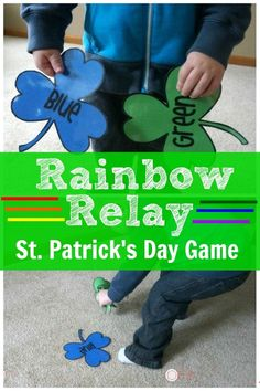 Patrick's Day Gross Motor – Rainbow Relay - A fun way to get the kids moving with a St. I'm using this all of March and all Spring! St Patrick Day Activities, Spring Activities, Holiday Activities, St Patricks Day Crafts For Kids, St Patrick's Day Crafts, March Crafts, Food Crafts, St Patrick's Day Games, Games For Kids
