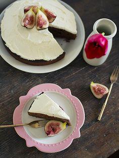 Chocolate Cake with Vanilla Bean Whipped Cream