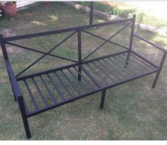 Furniture Ideas, Outdoor Furniture, Outdoor Tables, Outdoor Decor, Industrial Furniture, Metals, Home Decor, Iron, Benches