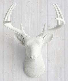 White Deer Head Wall Decor | Home interior ideas | Pinterest ...