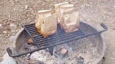 Cook a Hearty Campfire Breakfast in a Paper Bag.  Also read that you can dampen the bag & it won't burn.